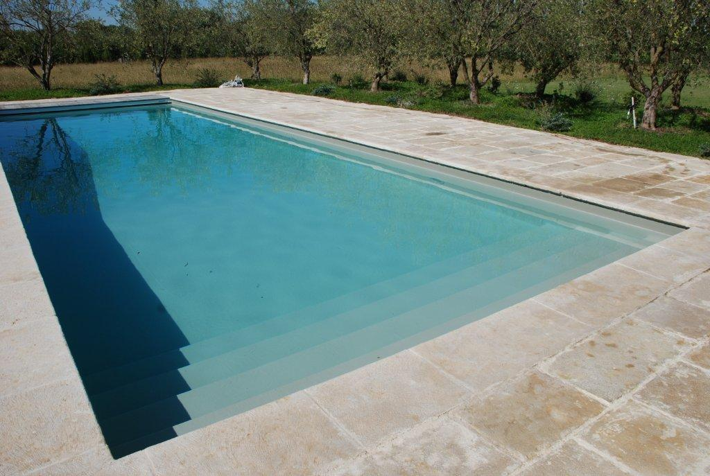 Nos r alisations avec liner gris clair reynaud piscines for Liner piscine
